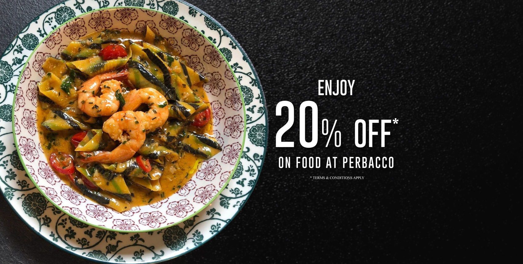 PerBacco London - 20% Off on Food